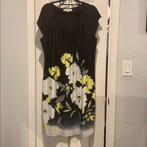 AA Studio AA Sz 16 Black / Yellow Floral Dress